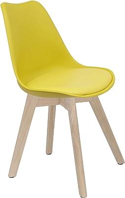 en.casa]®] Set de 2 sillas de Comedor (Blanco) Set para ...