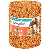 VOSS.farming Fil de clôture électrique 1000 m, 3X 0,20 Acier Inoxydable, Jaune-Orange