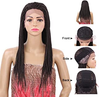 Hairpieces Hairpieces Wig Female Long Straight Hair Three Strands 22inch High Temperature Silk Front Lace Headgear Black 1B for Daily Use and Party