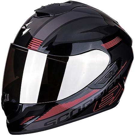 Scorpion Unisex Erwachsene Nc Motorrad Helm Schwarz Rot L Auto