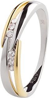 Ardeo Aurum Women's Ring 375 Gold 0.07 Carat Diamond