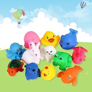 El Niño de 12 ouet animales lindos juguetes de bebé en el agua de baño (lote de 12 piezas por paquete)