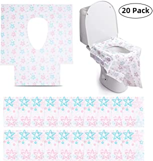 Toilet Seat Covers Disposable, XL Large Full Cover Travel Potty seat for Toddler, Waterproof Individually Wrapped Portable Potty Shields for Kids Potty Training, Adult, The Pregnant and Public Toilet