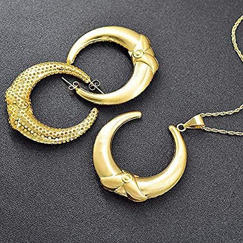 WYDSFWL Collar de Acero Inoxidable Estrella de David con símbolo Chai Colgante Collar judíos Platos de Moda Collar Regalo