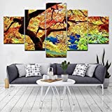 DBFHC Art Cuadros En Lienzo Game of Throne Decoracion De Pared 5 Piezas Modernos Mural Fotos para Salon Dormitori Baño Comedor 150X80Cm