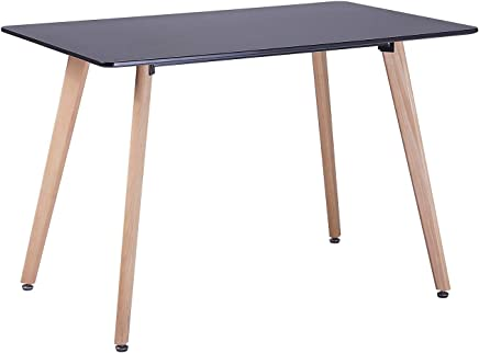 f06a96a9b83e4 H.J WeDoo Table à Manger Rectangulaire Style Scandinave 4-6 Personnes HxD:  75 x