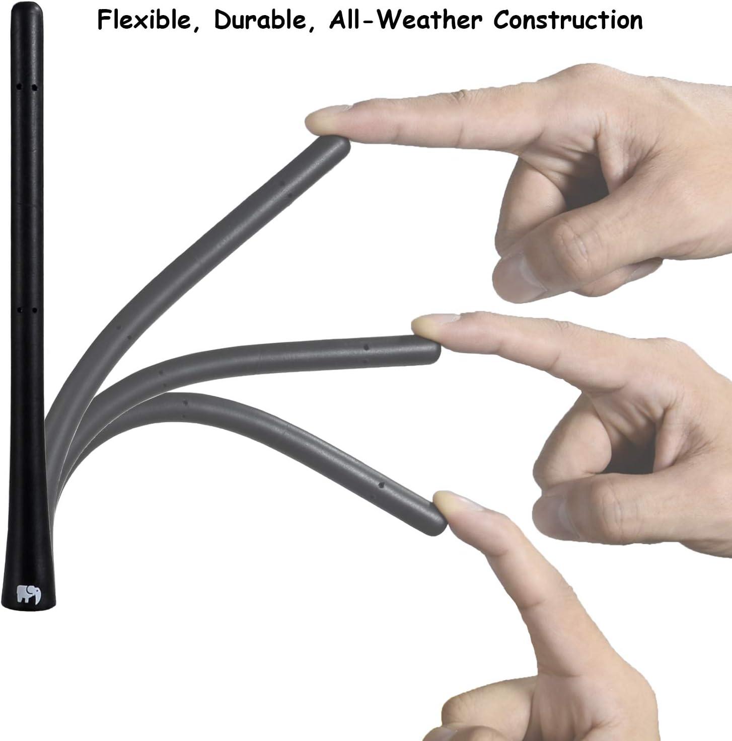- Designed for Optimized FM//AM Reception 2007-2019 ONE250 7 inch Flexible Rubber Antenna for Chevy 2003-2020 Equinox Avalanche 2002-2013 White Silverado Colorado 2003-2017