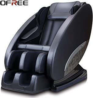 OFREE Massage Chair Household Healthcare 3D Zero Gravity Full Body Relax Massage Chair Neck Shoulder Back Butt Foot Massage Chair(Black)