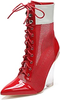 Best red mesh booties Reviews