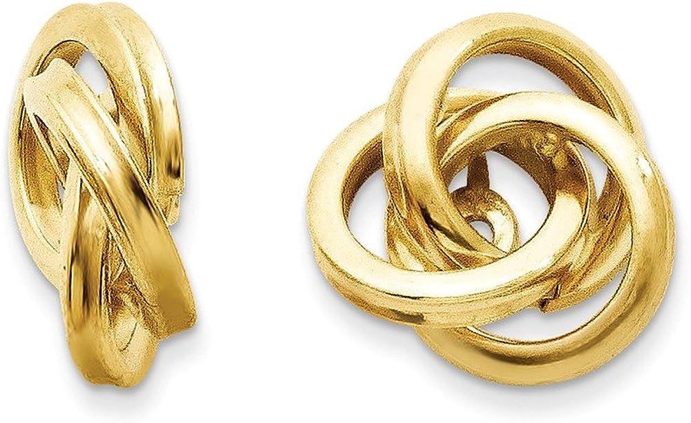14k Polished Love Knot Earring Jackets