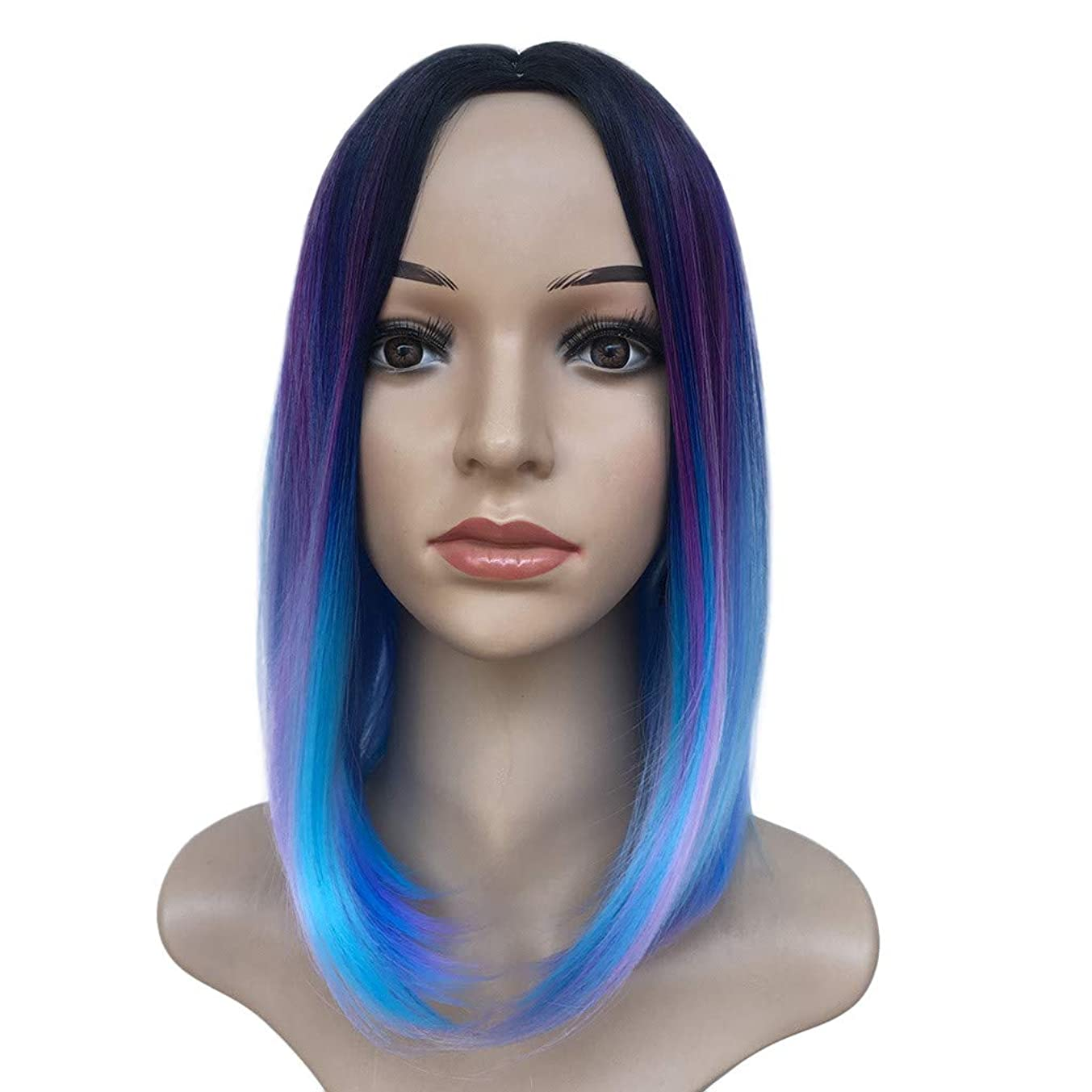 Bob Human Hair Lace Front Wigs, FD-FLY89 Pre Plucked Middle Part with Brazilian Hair Short Silky Straight for Women