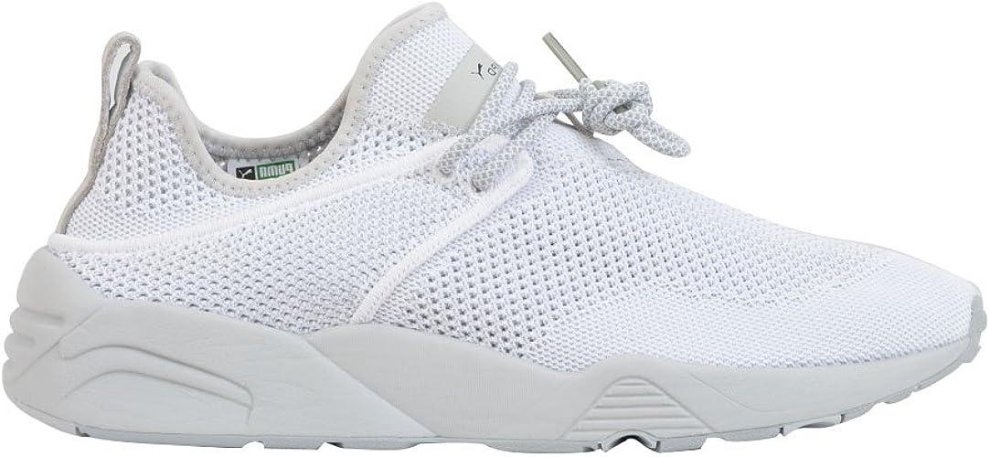 Puma Homme 362744001 Blanc Tissu Baskets : Amazon.fr: Chaussures ...