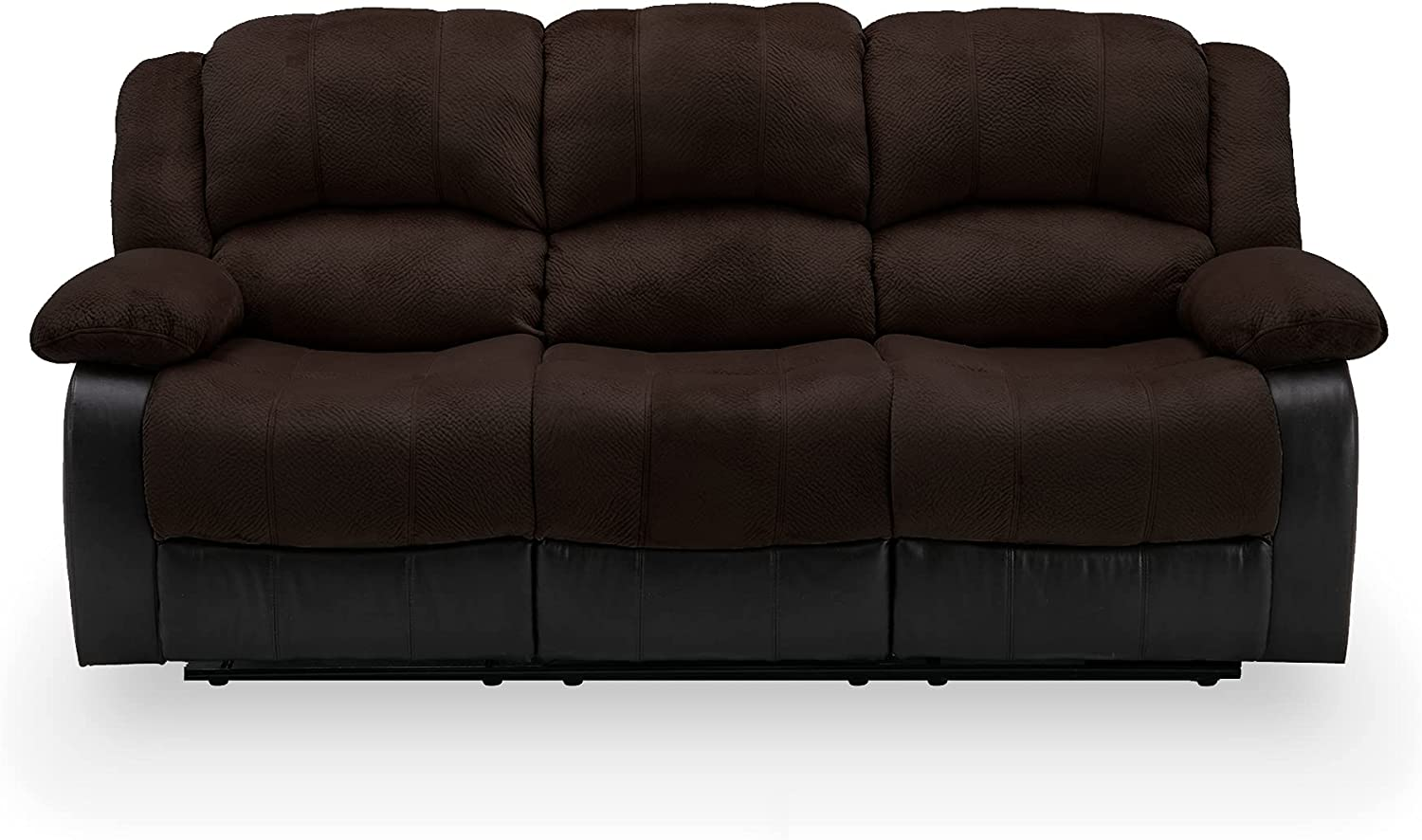 Nathaniel Home Recliner depot 3 Seats Padded Leather for Pu Seat Livin Max 88% OFF