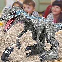 キッズリモコン恐竜のおもちゃ2.4 g RC恐竜インテリジェントラプター動物の電気歩行動物のための動物の玩具ギフト男の子の女の子子供の贈り物子供のおもちゃ リモコン恐竜 XINRUIBO