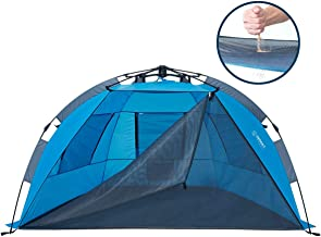 Beach Tent with SAND-FREE Porch, 4 Person XL Deluxe Tent,...