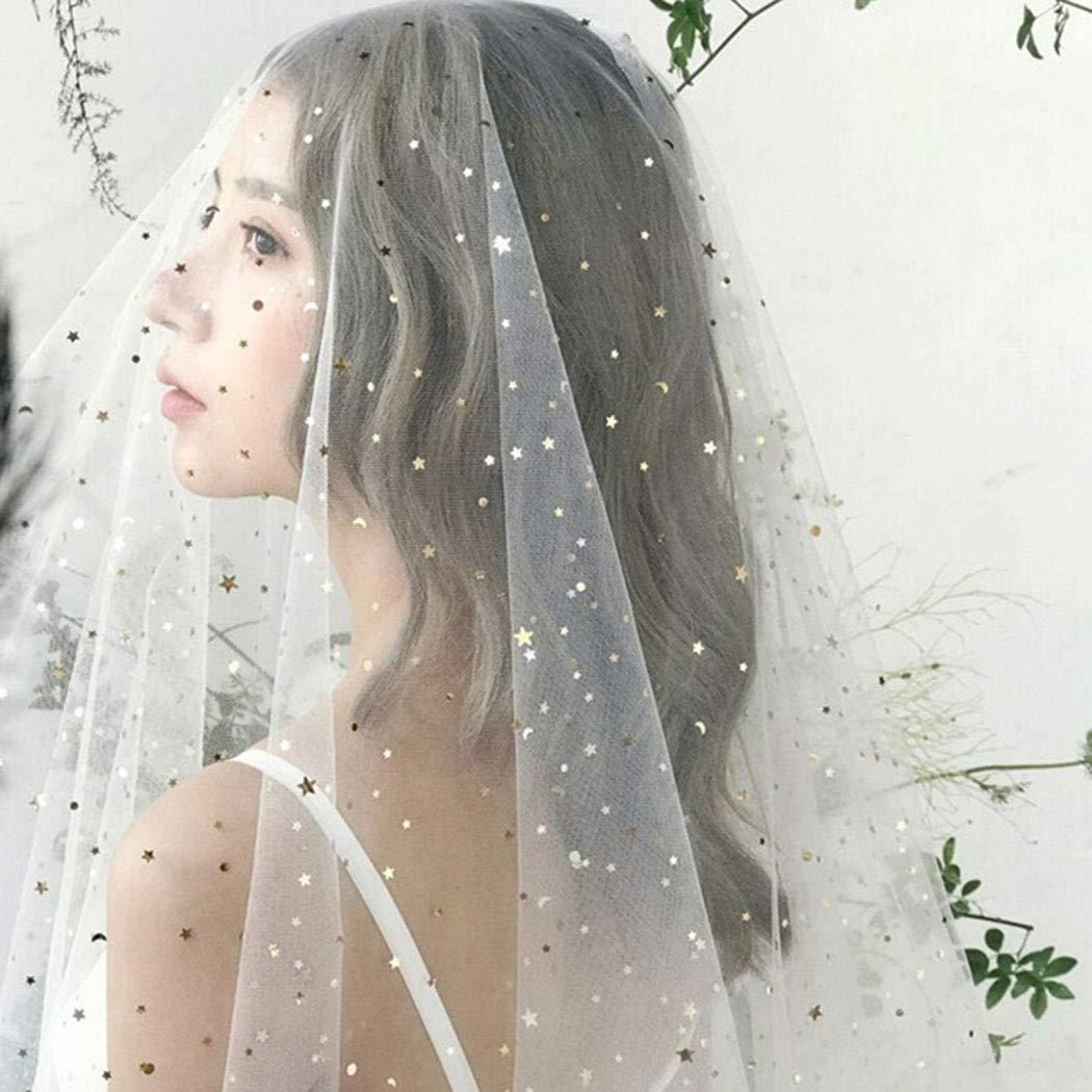 Haloty 1 Tiers Bride Wedding Veil 39.37