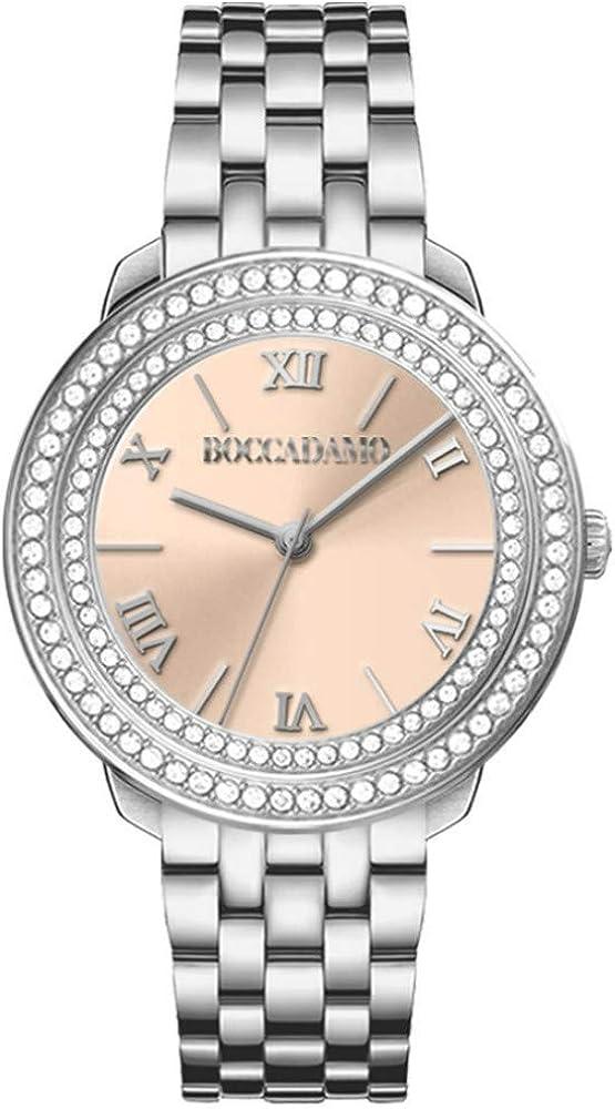 Boccadamo,orologio da donna,cassa in metallo, quadrante rosa effetto perlato. fondello in acciaio DV003