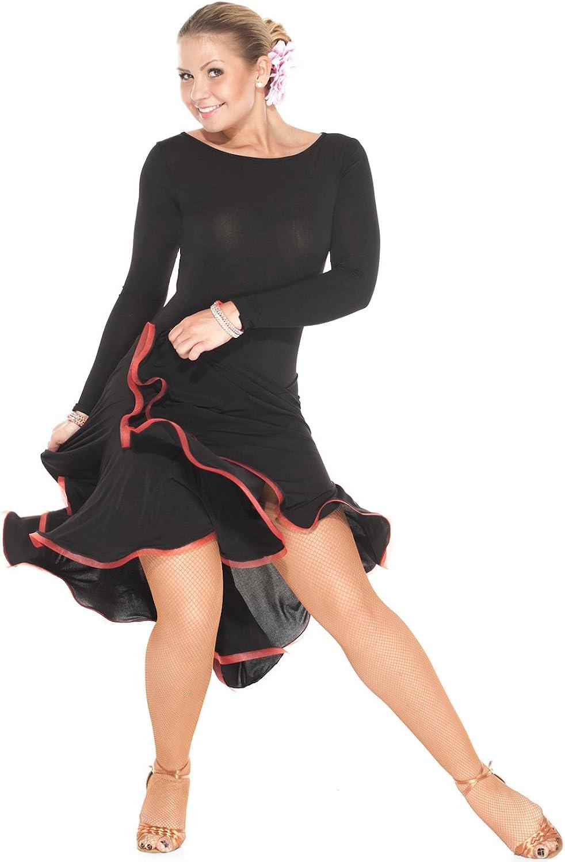 Ballroom Dance Dresses Women Latin Dance Dress Performance Competition Practice Dancewear   Novella Red