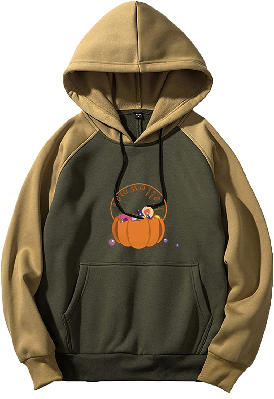 Bravetoshop Unisex Halloween Printed Pullover Hoodies Novelty Graphic Tracksuit Sweatshirt Outerwear for Men Women