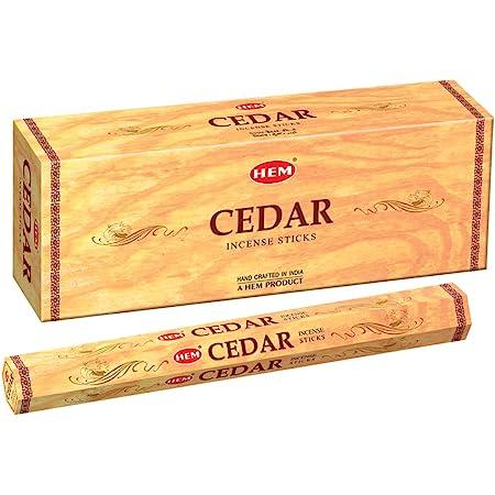 HEM Cedar Incense Sitcks - Pack of 6 - 120 count - 301g