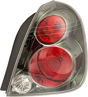 Passengers Taillight Tail Lamp with Dark Chrome Trim Replacement for Nissan 26550ZB025