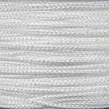 PARACORD PLANET Micro Cord 1.18mm Diameter 125 Feet Spool of Braided Cord - Available in a Variety of Colors Made in The USA (White)