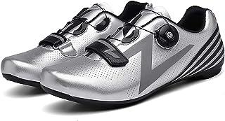 WYUKN Fietsschoenen mannen vrouwen anti-slip ademende fietsschoenen road schoenen MTB schoenen plat zonder klik systeem, Z...