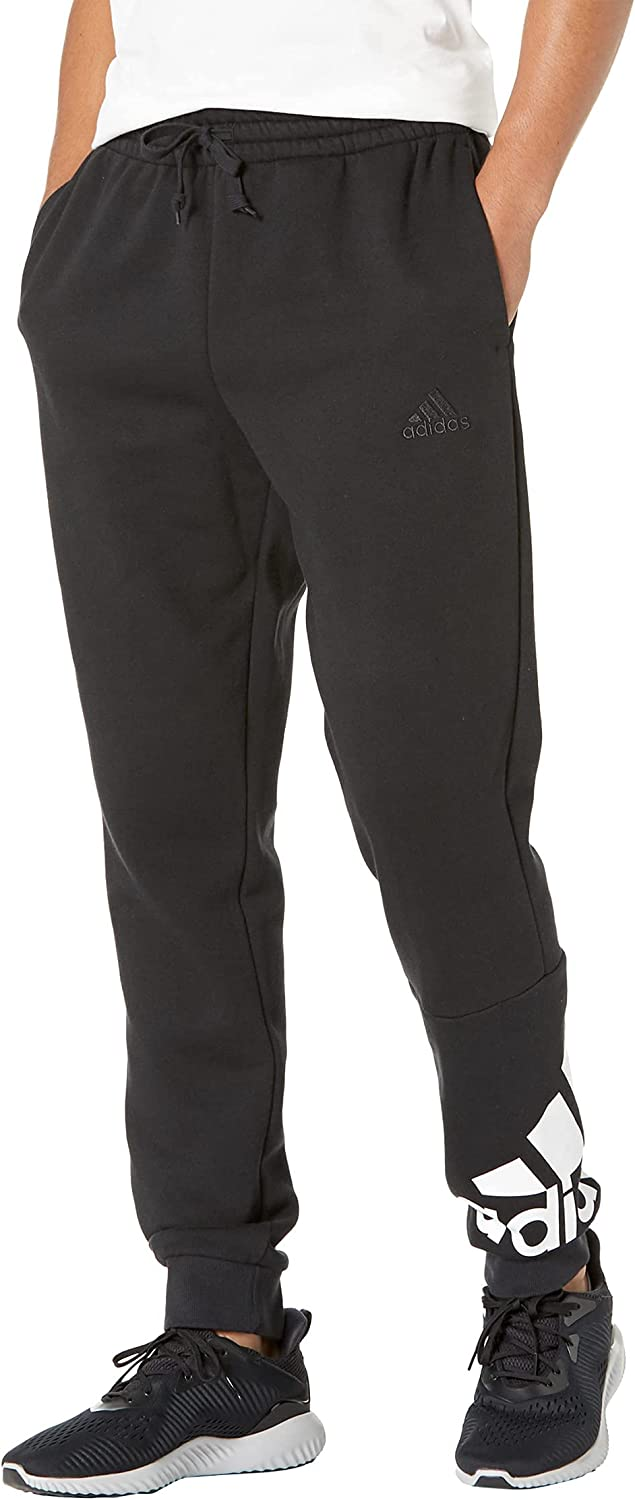 adidas New mail order Men's Essentials Fleece Tapered Deluxe Logo Cuff Pants