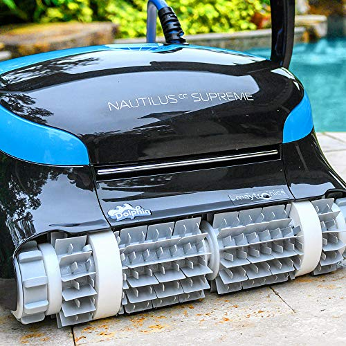 DOLPHIN Nautilus CC Supreme Robotic Pool Vacuum Cleaner- The Next Generation of Pool Cleaning with WiFi for Control from Anywhere, Ideal for Swimming Pools up to 50 Feet…