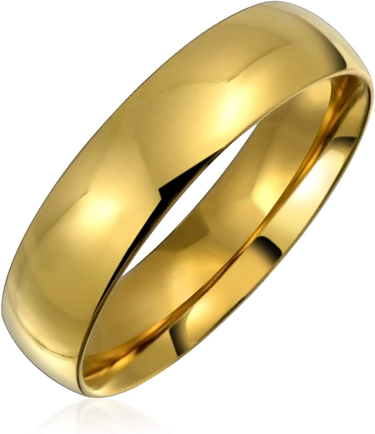 Personalize Plain Simple Dome Comfort Band Ring Fit Wedding Max 73% OFF 5MM Nashville-Davidson Mall
