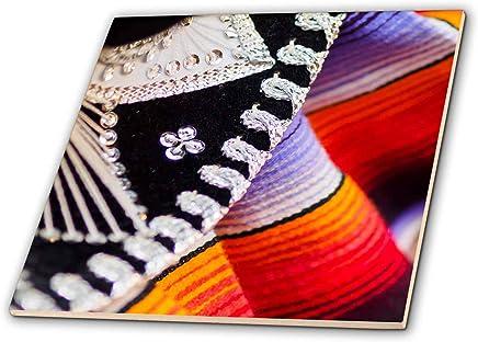 3dRose Danita Delimont - 装饰 - 墨西哥帽细节 - 瓷砖 (ct_314678) 白色 12-Inch-Ceramic ct_314678_4