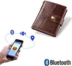Anti Theft Smart Tracker GPS Wallet Women Men PU Leather Battery Powered RFID Blocking Credit Card Holder Coin Pocket Purse