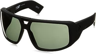 Spy Optic Touring Wrap Sunglasses, Black/Happy Gray/Green, 64 mm