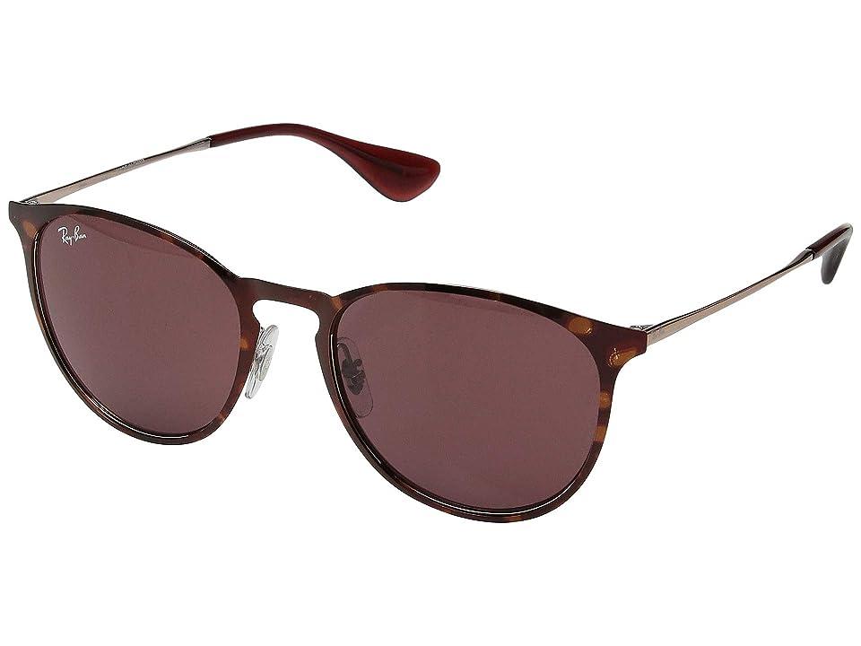 Ray-Ban 0RB3539 Erika Metal 54mm (Shiny Copper/Havana/Bordeaux) Fashion Sunglasses