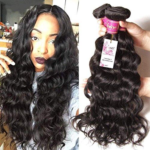 Unice 8a Remy Brazilian Natural Wave Hair 3 Bundles 100% Unprocessed Virgin Human Hair Extensions Weave Natural Color (8 10 12)