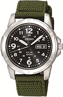 Seiko Men SNE095P-2 Year-Round Analog Solar Powered Green Watch