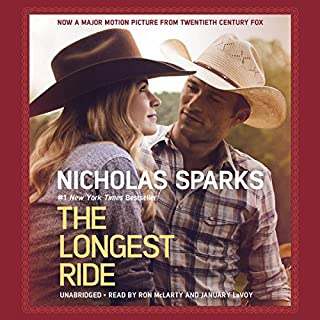The Longest Ride                   Written by:                                                                                                                                 Nicholas Sparks                               Narrated by:                                                                                                                                 Ron McLarty,                                                                                        January LaVoy                      Length: 13 hrs and 11 mins     9 ratings     Overall 4.4