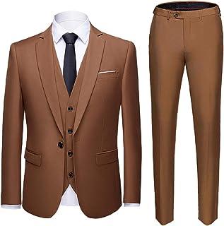 کت و شلوار مردانه MY'S باریک مناسب یک دکمه 3 تکه کت و شلوار جلیقه لباس کسب و کار عروسی جلیقه جلیقه و شلوار