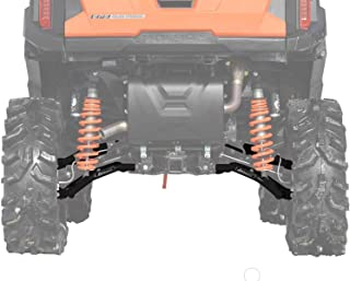 SuperATV Heavy Duty High Clearance Rear Offset A-Arms for Polaris General 1000 / General 4 (2016+) - Black