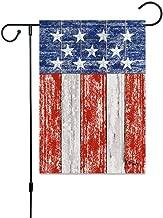 hotstype Home Garden Holiday Linen American Flag Rectangle Garden Flag Gift Baskets