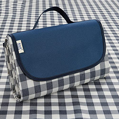 Tela Oxford Plegable Portátil para Alfombra Playa, Mantas de picnic con respaldo impermeable, alfombra grande, estera de picnic al aire libre, manta de jardín plegable, ideal para Picnic-A10_145x200cm