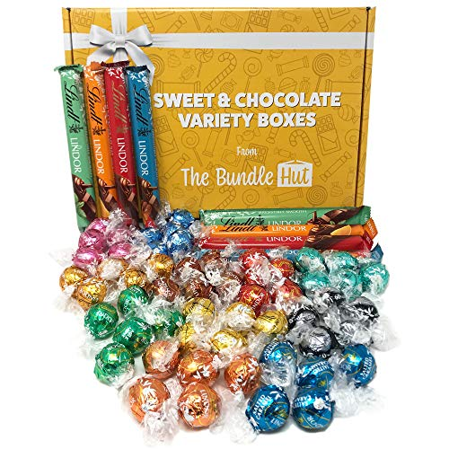 Lindt Chocolates Gift Box Hamper from The Bundle Hut: Includes 11 different flavours of Lindt Chocolate Truffles & Lindt Chocolate Bars, Perfect as a Valentines Chocolate Gift