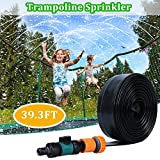 FRIDIROU Trampoline Sprinkler -Fun Summer Party Outdoor Trampoline Sprinkler Water Park for Kids,Trampoline Spray Hose Waterpark Toys for Boys Girls and Adults 39 ft