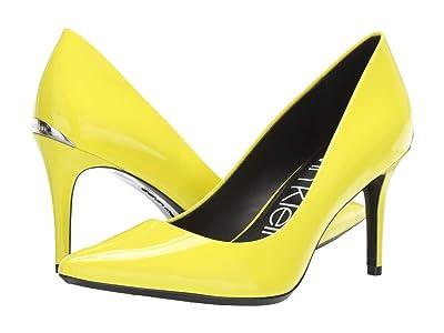 Calvin Klein Gayle Pump (Yellow Fluorescent Patent) High Heels