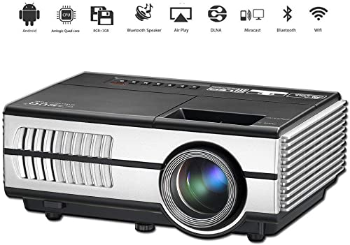 Mini Portable LED Home Theater Bluetooth Wireless HDMI Projector Smart LCD Android Wifi Video Projector HDMI USB VGA ...