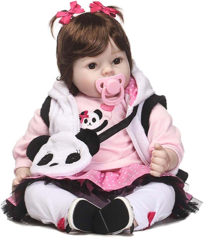 0Miaxudh Reborn Puppe, 50cm Kinder Kinder Silikon Mdchen Baby Reborn Puppe Cartoon Lebensechte Begleiten Spielzeug