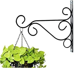 NAYAB Hanging Planter Iron L Bracket Wall Ceiling Hook Without Pot/L-Angle Flower Plant Stand Holder Bird Feeder Wind Chime Lanterns Hanger (Ring L)