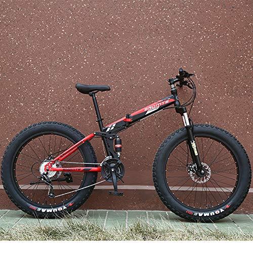 Vélos de montagne, Route amortissant les chocs de vélo pour adultes vélo, montagne vélo avec siège réglable, suspension à haute teneur en acier au carbone double avant VTT,Noir,7speed 26 inches