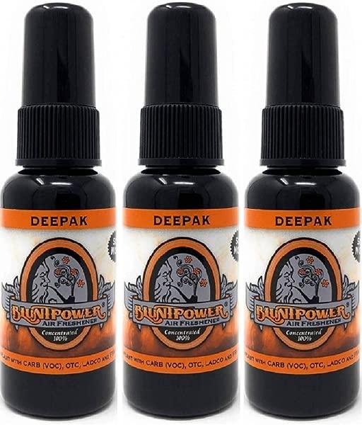 3 Pack Blunt Power 1 Ounce Glass Bottle Air Freshener Oil Based Concentrate And Oil For Burner Deepak