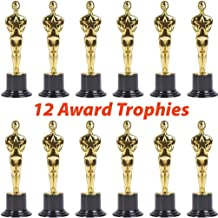 12 Plastic Trophies for Kids | Oscar Award Trophy Set of 6 Inch Statues | Bulk Movie Themed Party Supplies and Favors | Celebrations, Competitions, Classroom Prizes and Incentives, Props, Contests